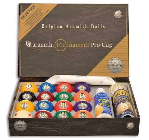 Billes Pool Aramith Tournament Pro Cup Value Pack